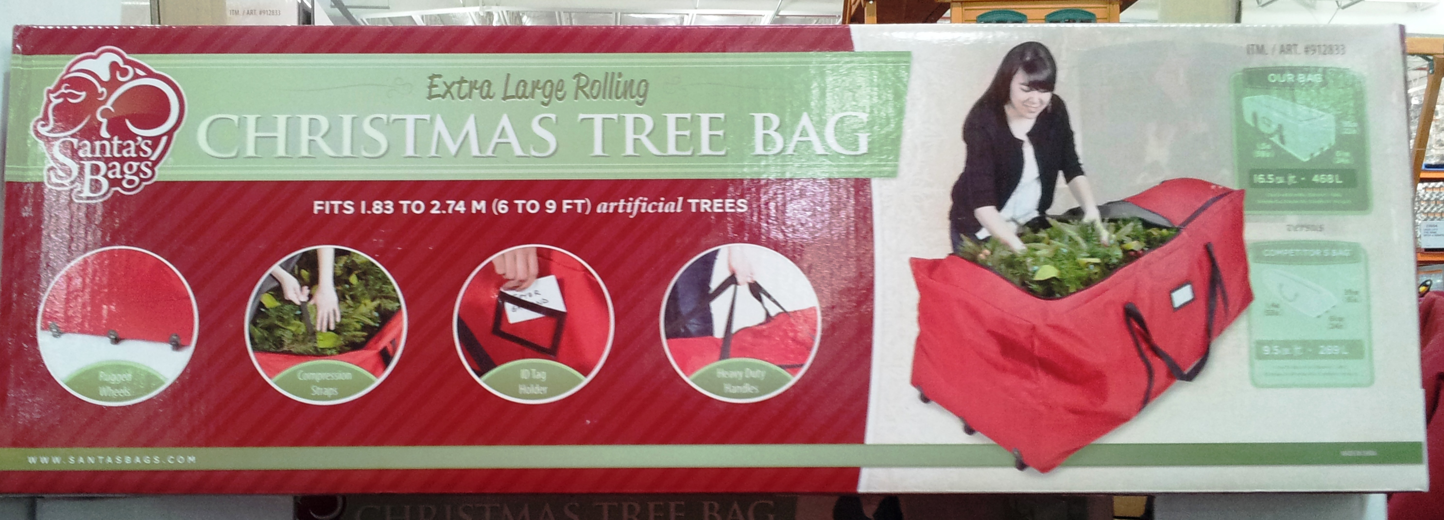 12 days of costco christmas day 7 loaded trolley - Rolling Christmas Tree Storage Bag