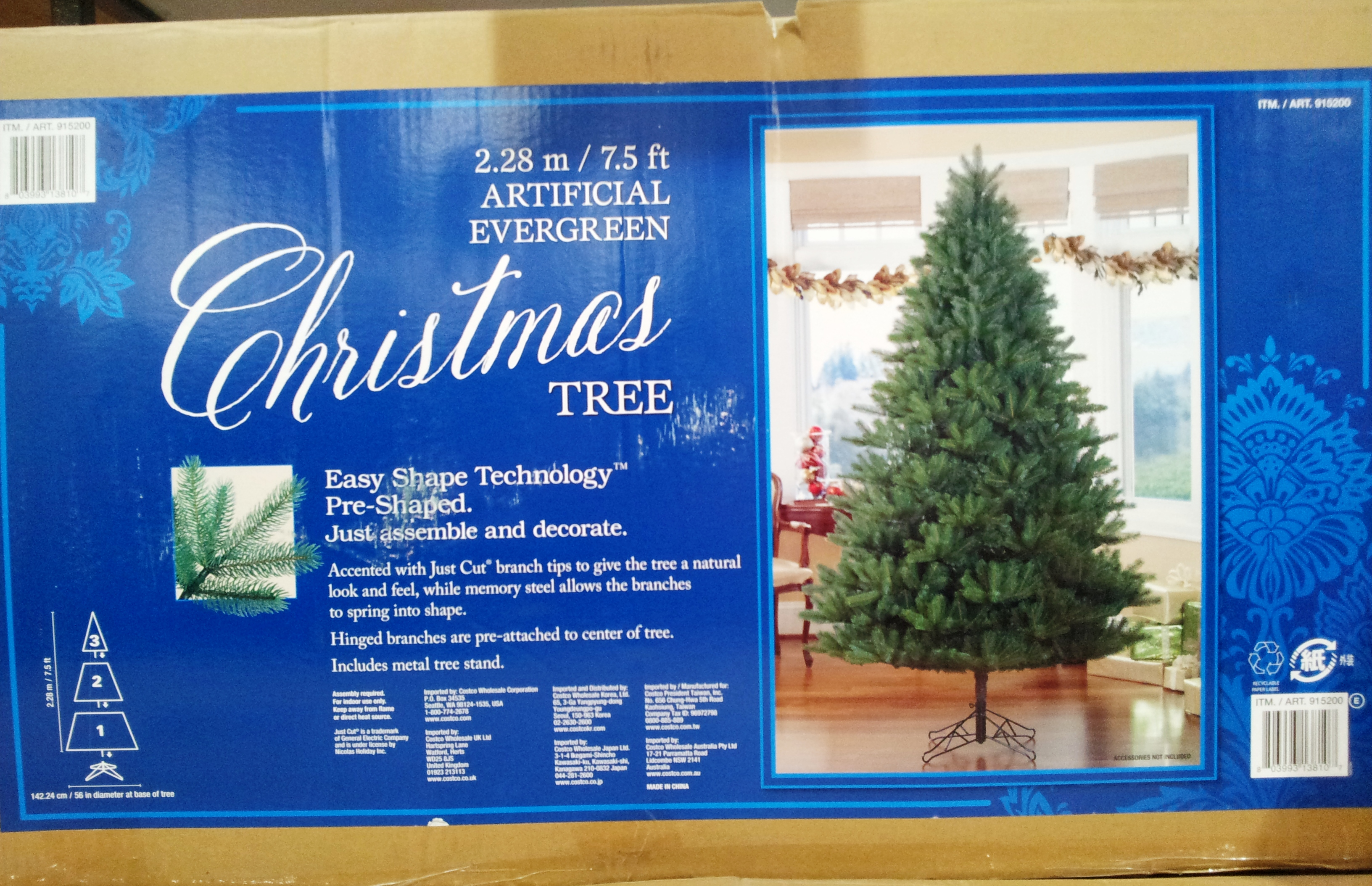 item no4 is a whopping 274m 9ft christmas tree with a base spread of approx 16m diameter - Costco Christmas Decorations 2017 Australia