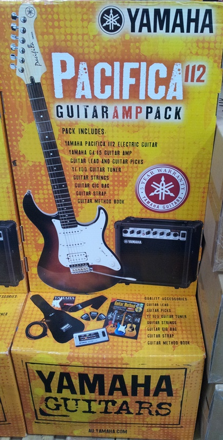 yamaha pacifica 112 guitar and amp pack loaded trolley. Black Bedroom Furniture Sets. Home Design Ideas