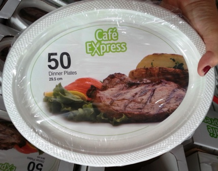 Cafe Express Disposable Plastic 29.5cm Dineer Plates 50x