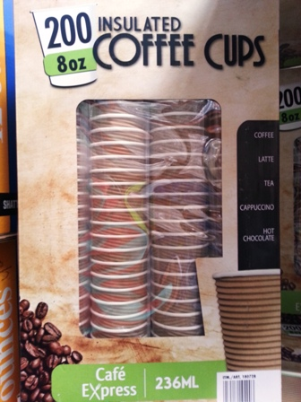 Cafe Express Insulated Disposable Coffee Cups 236ml 200x pack