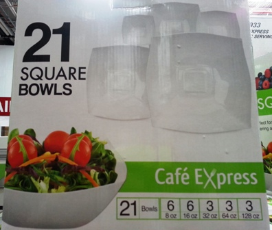 Cafe Express Square Bowls 21x Pack 5 sizes