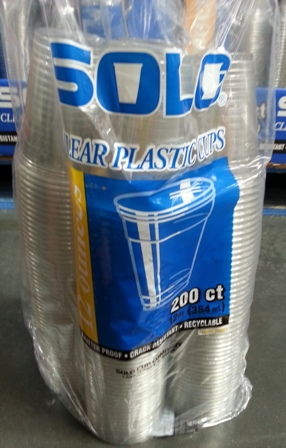 Solo Clear Plastic Cups 354ml 200-Pack