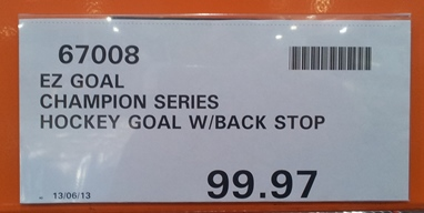 EZ Goal price at Costco Docklands