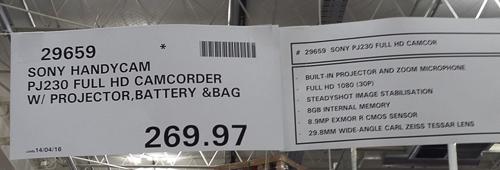 Costco_Australia_Sony_HDRPJ230PK_camcorder_price