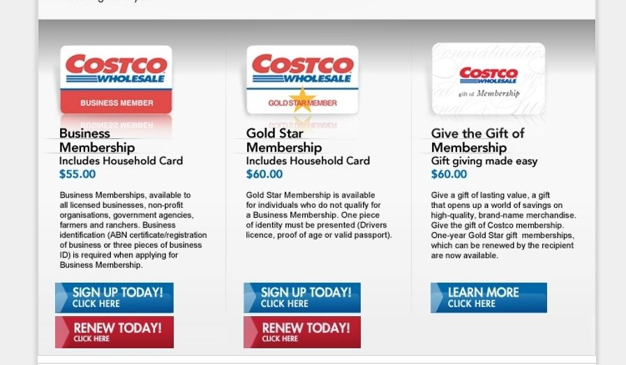 Costco Membership online signup